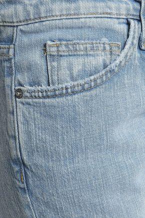 CURRENT/ELLIOTT Nova distressed mid-rise slim-leg jeans