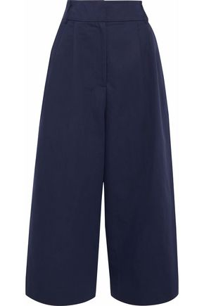 TIBI Cotton and linen-blend twill culottes