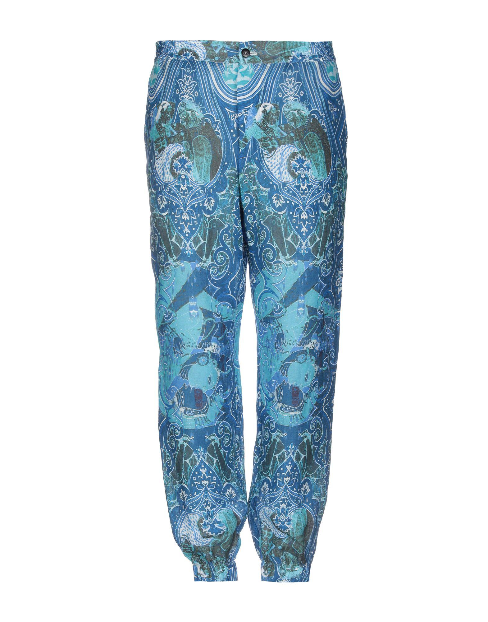 《送料無料》ETRO メンズ パンツ ブルー M 麻 100%
