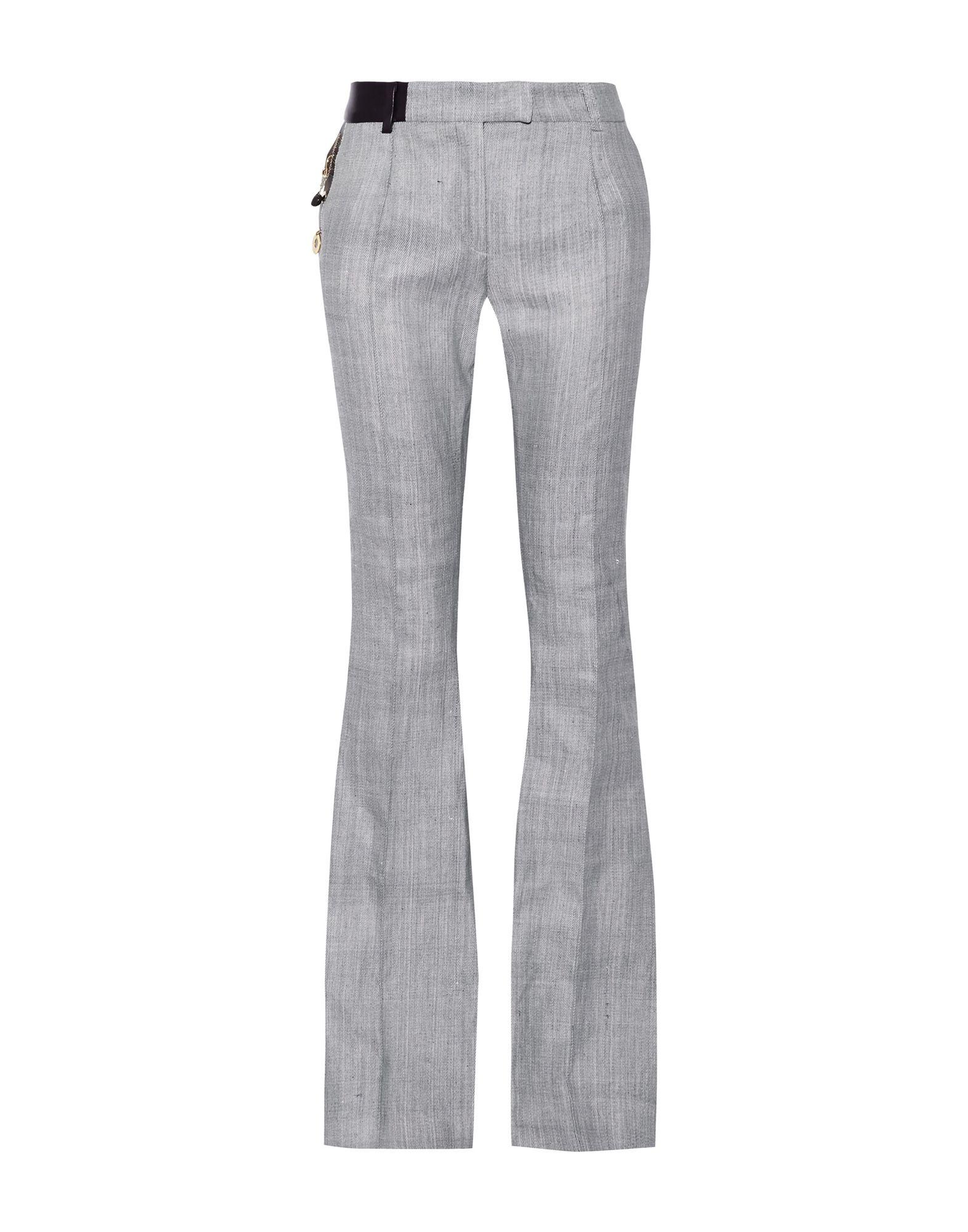 《セール開催中》RONALD VAN DER KEMP レディース パンツ ブルー 34 コットン 100% / 羊革(ラムスキン)