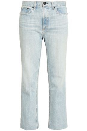 RAG & BONE Cropped high-rise straight-leg jeans