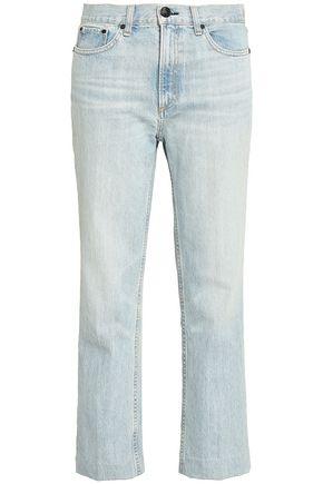 RAG & BONE Faded mid-rise straight-leg jeans