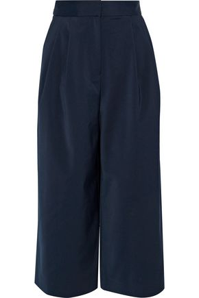 TIBI Cropped faille wide-leg pants