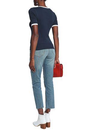 CURRENT/ELLIOTT Joey cropped high-rise straight-leg jeans