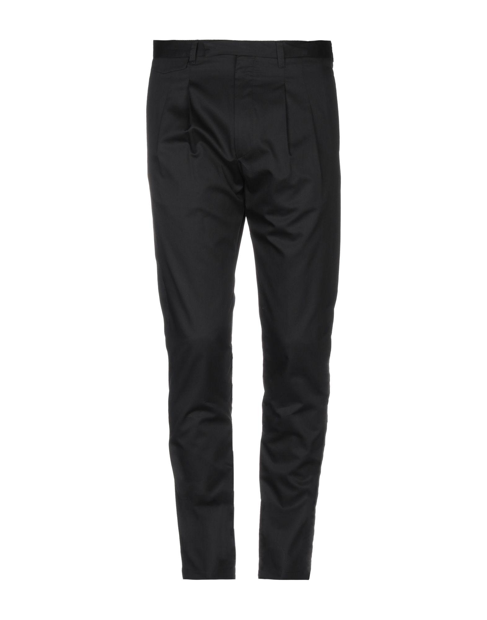 《送料無料》TREND CORNELIANI メンズ パンツ ブラック 48 コットン 100%