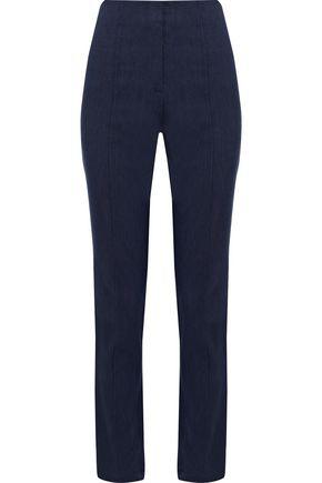 DIANE VON FURSTENBERG Stretch-linen twill slim-leg pants