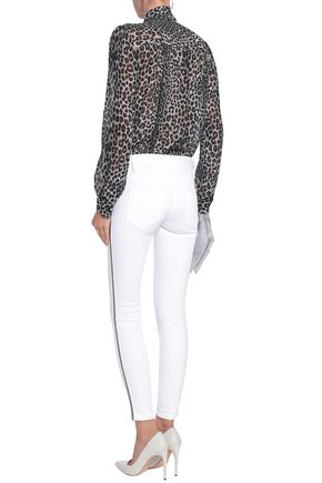 JUST CAVALLI Embroidered mid-rise skinny jeans