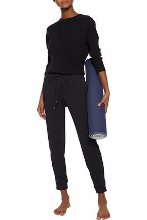 LIVE THE PROCESS Sateen-trimmed stretch-jersey track pants