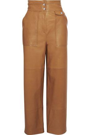YVES SALOMON Leather straight-leg pants