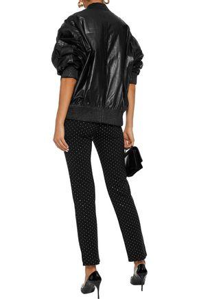 BALMAIN Crystal-embellished jersey slim-leg pants
