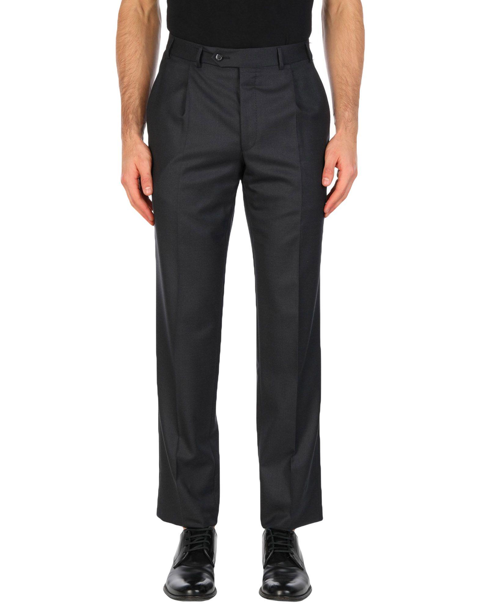 《送料無料》CORNELIANI メンズ パンツ スチールグレー 44 ウール 100%