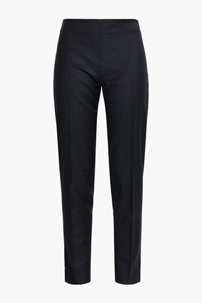 ANTONIO BERARDI Wool-jacquard tapered pants
