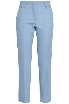 PIAZZA SEMPIONE Cotton-blend twill straight-leg pants