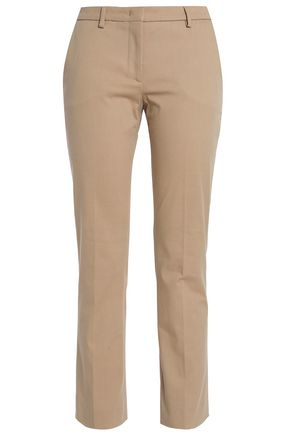PIAZZA SEMPIONE Matilde cropped cotton-blend slim-leg pants