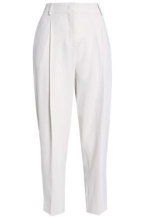 PIAZZA SEMPIONE Cropped crepe tapered pants