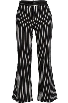PIAZZA SEMPIONE Angelina pinstriped cotton-blend kick-flare pants
