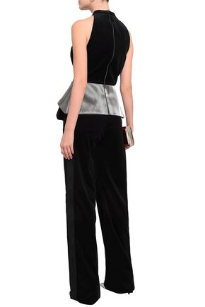 ANTONIO BERARDI Stretch-cotton velvet straight-leg pants