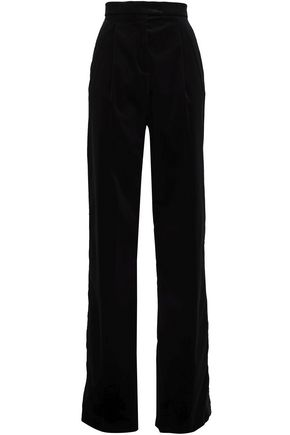 ANTONIO BERARDI Stretch-cotton velvet straight-leg pants