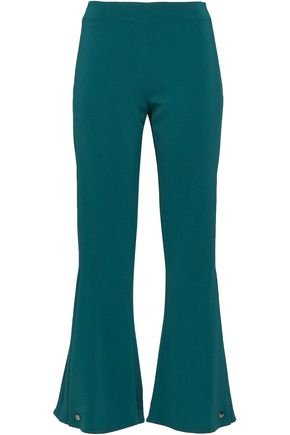 ANTONIO BERARDI Button-detailed woven kick-flare pants