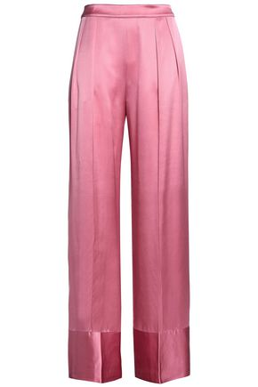 MICHAEL LO SORDO Silk-satin wide-leg pants