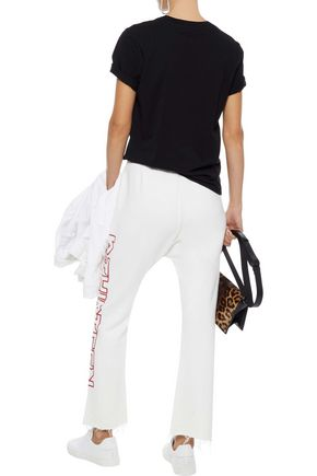 R13 Printed cotton-blend track pants