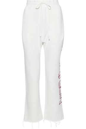 R13 Printed cotton-blend track pants