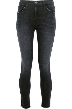 CURRENT/ELLIOTT The High Waist Stiletto distressed skinny jeans