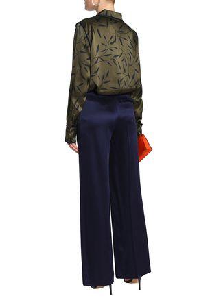 DIANE VON FURSTENBERG Satin-crepe wide-leg pants