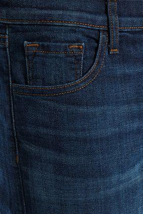 J BRAND Faded high-rise slim-leg jeans