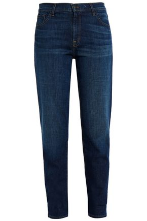 J BRAND Faded high-rise slim-leg jeans