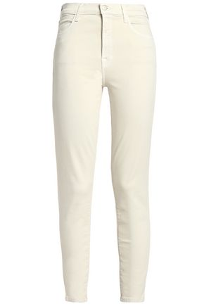 J BRAND Alana cropped coated high-rise skinny jeans