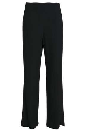 TORY BURCH Satin-crepe wide-leg pants