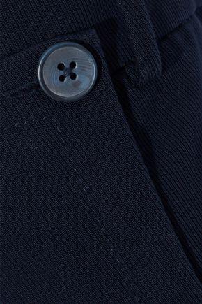 GREY JASON WU Button-detailed cotton-blend twill wide-leg pants