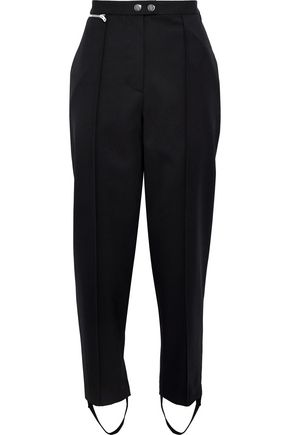 3.1 PHILLIP LIM Zip-detailed wool-twill tapered stirrup pants