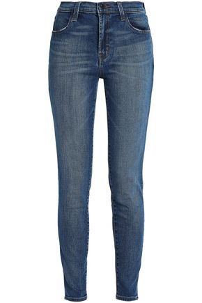 J BRAND Maria faded mid-rise skinny jeans