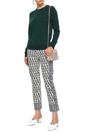 a8bdd4072bde TORY BURCH Printed mid-rise slim-leg jeans