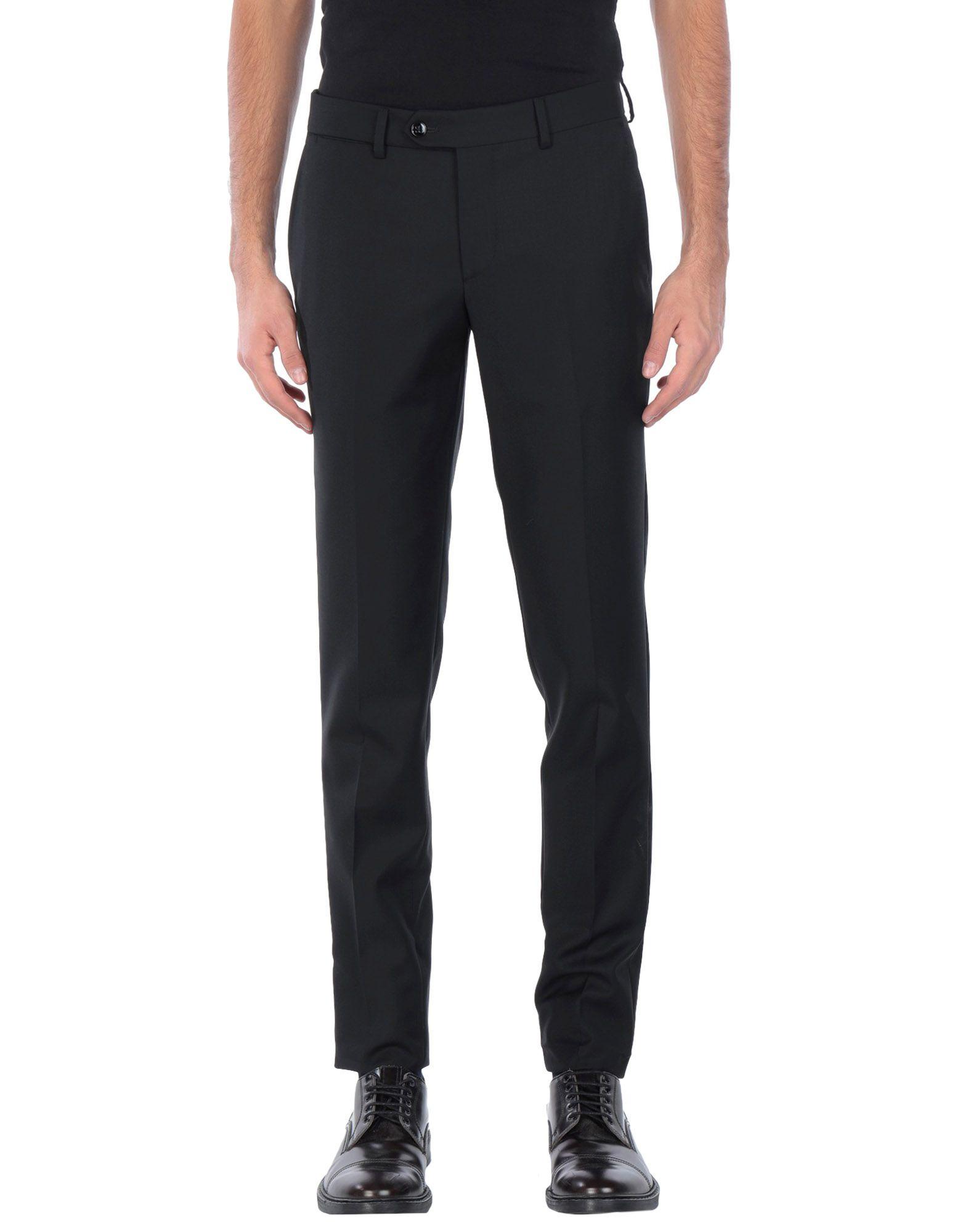 《送料無料》BRIAN DALES メンズ パンツ ブラック 48 ウール 100%