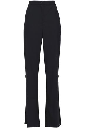 DOLCE & GABBANA Crystal-embellished wool-blend straight-leg pants