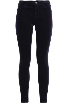J BRAND Cotton-blend sateen skinny pants