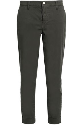J BRAND Cropped cotton-blend gabardine skinny pants