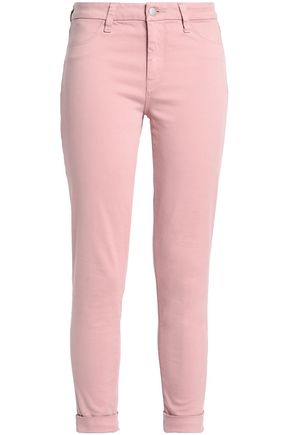 J BRAND Brushed cotton-blend twill skinny pants