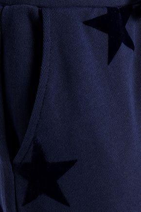 ZOE KARSSEN Flocked French cotton-terry track pants