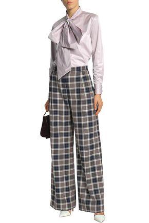 TORY BURCH Checked woven wide-leg pants