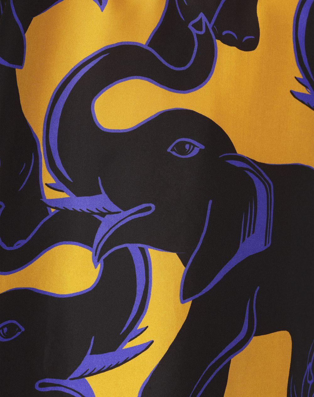 ELEPHANT-PRINT SILK TROUSERS - Lanvin