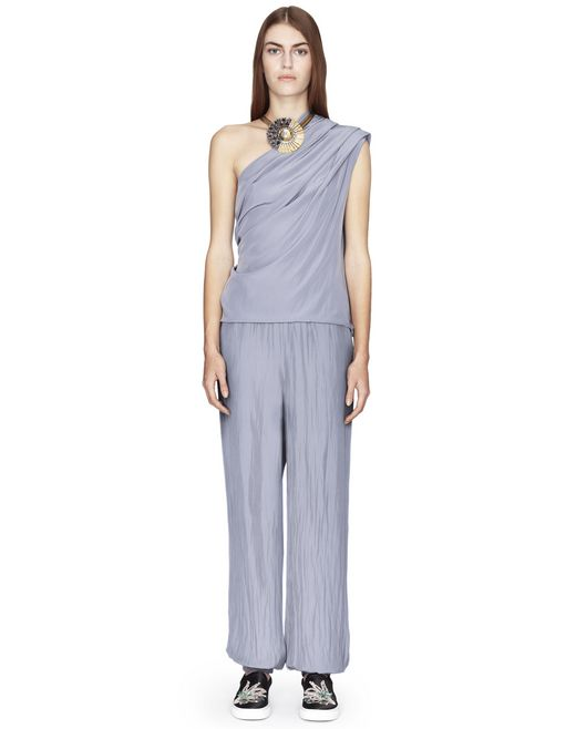 SATIN FLOWY PANTS  - Lanvin