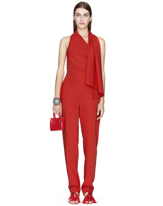 POPPY SCARF-COLLAR JUMPSUIT  - Lanvin