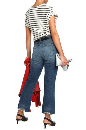 J BRAND Aubrie distressed high-rise kick-flare jeans