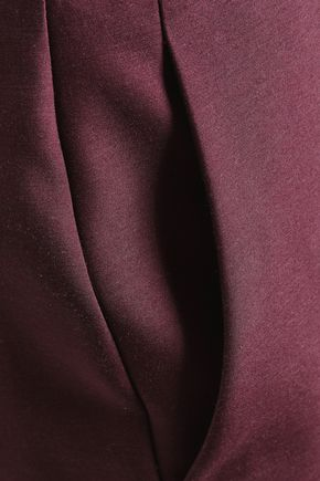 ROKSANDA Rapuir wool and silk-blend slim-leg pants
