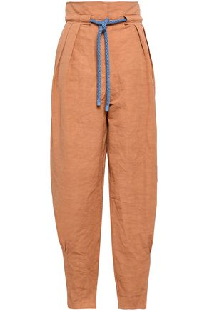 ROKSANDA Linen and cotton-blend tapered pants