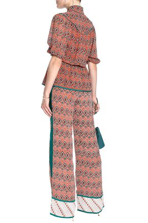 TALITHA Printed silk crepe de chine wide-leg pants